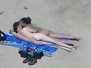 Beach Girlfriend Handjob Nudist Outdoor Voyeur