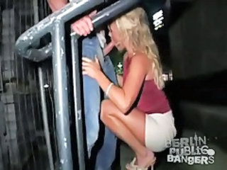 Blonde Blowjob Clothed Public