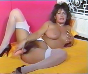 Dildo Hairy Masturbating MILF Stockings Vintage