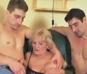 Granny Handjob Old and Young Threesome