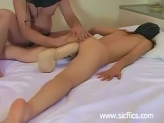 submissive slut fucking a monster dildo till she orgasms free