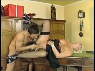 European Fisting German MILF Stockings
