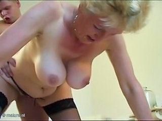Doggystyle Granny SaggyTits Stockings