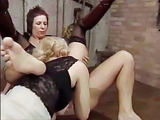 European German Lesbian Licking Mature Stockings