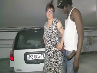 Big cock Car Glasses Handjob Interracial Mature