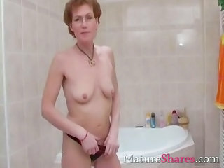 Bathroom Bus Mature Panty