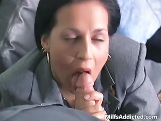Blowjob Clothed MILF Secretary