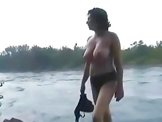 Amateur Beach Big Tits Mature Outdoor