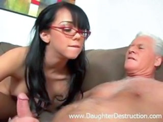 Glasses Handjob Old and Young