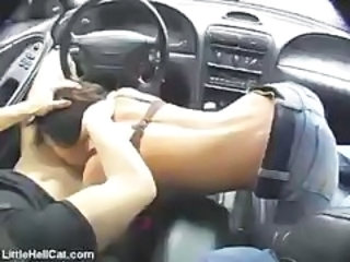 Amateur Blowjob Car Girlfriend Jeans
