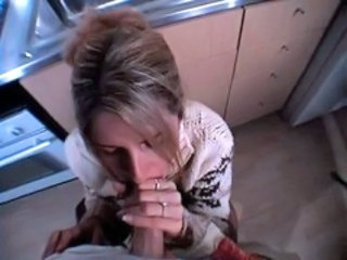 Blowjob Clothed Kitchen MILF