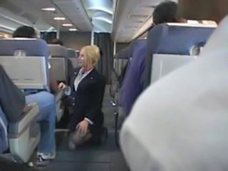 """Blonde Flight Attendant And Asia..."""" target=""""_blank"""
