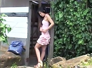 Asian Babe Outdoor