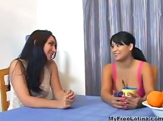 Two Latina Milfs Fuck A Lucky Stud latina cumshots latin swallow br...