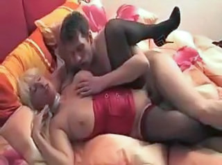 Chubby Mature Mom Old and Young Stockings