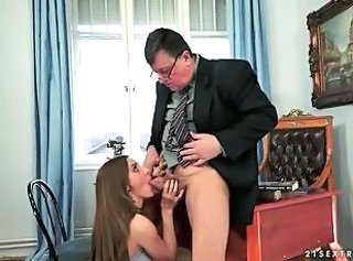 Blowjob Daddy Office Old and Young Secretary Teen