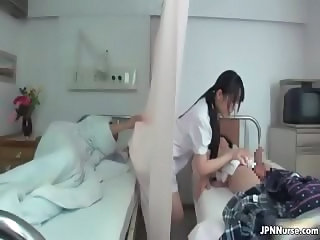 Asian Japanese Nurse Threesome Uniform