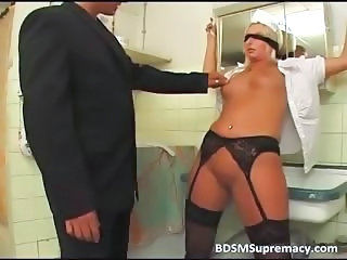 Bathroom Fetish Maid MILF Stockings