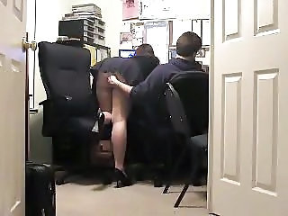 Office Skirt Stockings Voyeur