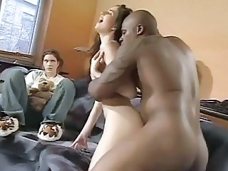Doggystyle Hardcore Interracial Teen Threesome