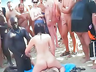 Beach Groupsex Swingers Voyeur