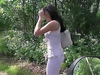 European German MILF Outdoor