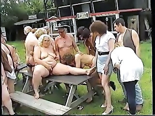 Granny Groupsex Orgy Outdoor