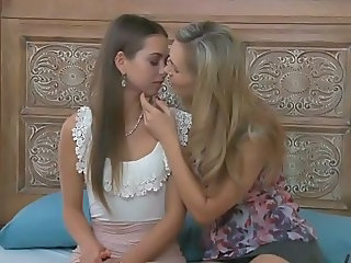 Daughter Kissing Lesbian Mom Young