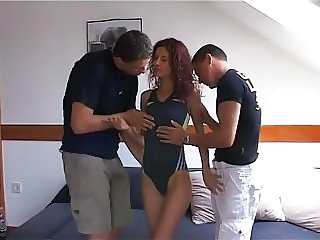 Skinny Teen Threesome Uniform