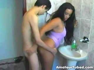Amateur Bathroom Girlfriend Latina