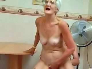 Insatiable Granny Just Loves Cock !