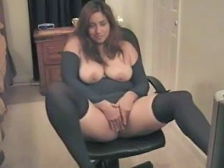 Chubby Latina Masturbating SaggyTits Webcam