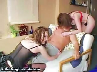 Daughter Lingerie Mom Threesome