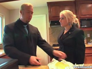 Babe Blonde Kitchen