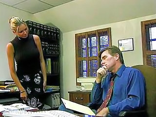 Blonde MILF Office Pool Secretary