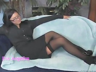 Glasses Legs MILF Stockings
