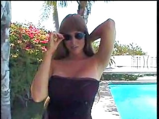 Big Tits MILF Outdoor Pool