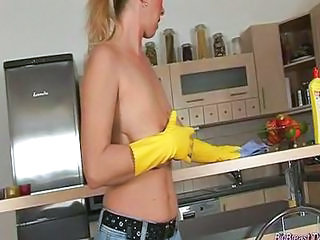 Kitchen Mature SaggyTits