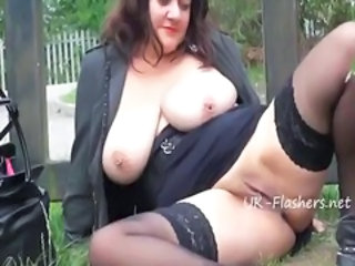 Big Tits British Chubby European Mature Natural Outdoor Public Pussy SaggyTits Shaved Stockings