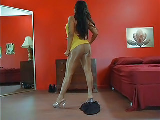 Amazing Ass Legs Long hair MILF Pantyhose Solo