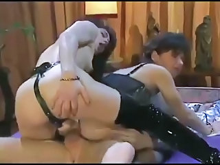 Double Penetration European French Hardcore MILF Strapon Threesome Vintage