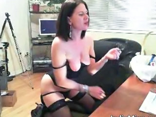 MILF SaggyTits Smoking Webcam