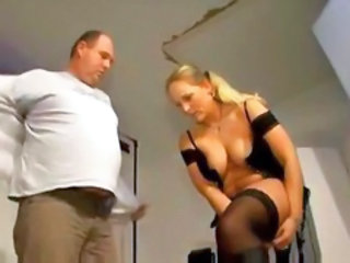 Blonde European German MILF Stockings