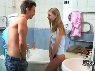 Bathroom Teen Threesome