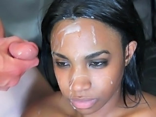 Cumshot Facial Ebony Interracial Teen