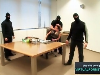Forced Gangbang Hardcore Office