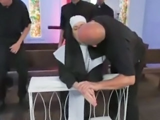 Catholic Nun Gangbanged by Priests