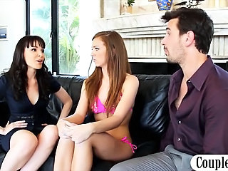 MILF Old and Young Teen Threesome Wife