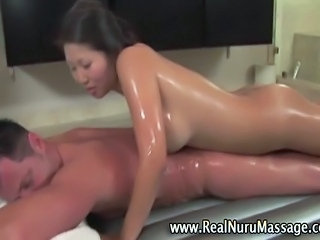Asian Babe Chinese Interracial Massage Oiled