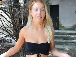 Car Casting MILF Outdoor